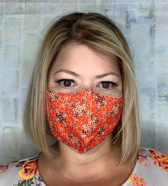 ORANGE BANDANA MASK LIGHTWEIGHT