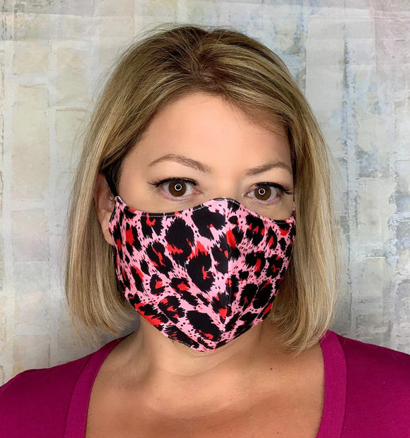 PINK CHEETAH MASK