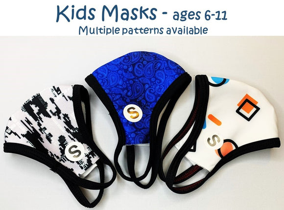 KIDS MASKS AGES 6-11 MULTIPLE PATTERNS
