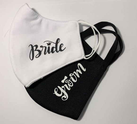 BRIDE AND GROOM MASKS