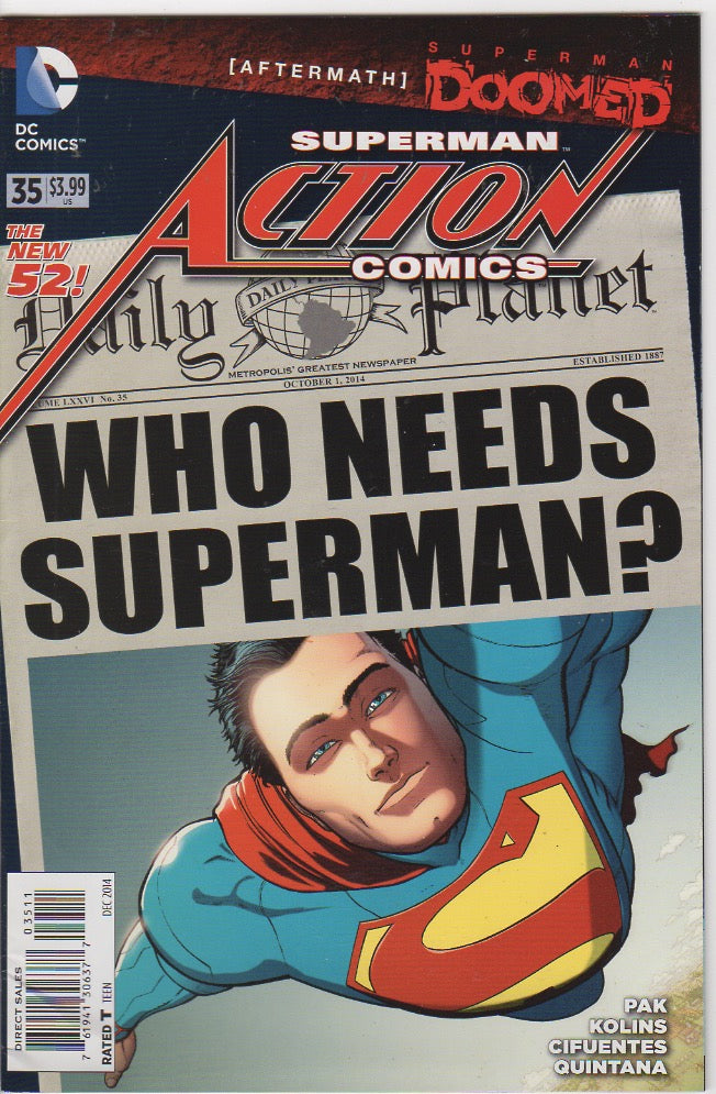 Action Comics Vol 2 - 35 VF+