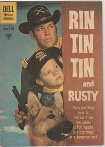 Dell Westerns - Rin Tin Tin and Rusty issue 34 - VG+