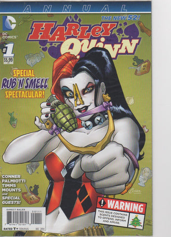 Harley Quinn New 52 - Annual 1 Scratch N Sniff Sealed VF