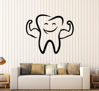 Funny Tooth Smile Wall Vinyl Decor Dental Clinic Wall Stickers LC296