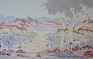 West MacDonnell Ranges-seen from the North - 54cm x 36cm
