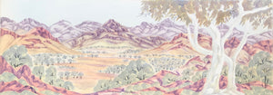 West MacDonnell Ranges - Framed size 89.5cm x 40.5cm