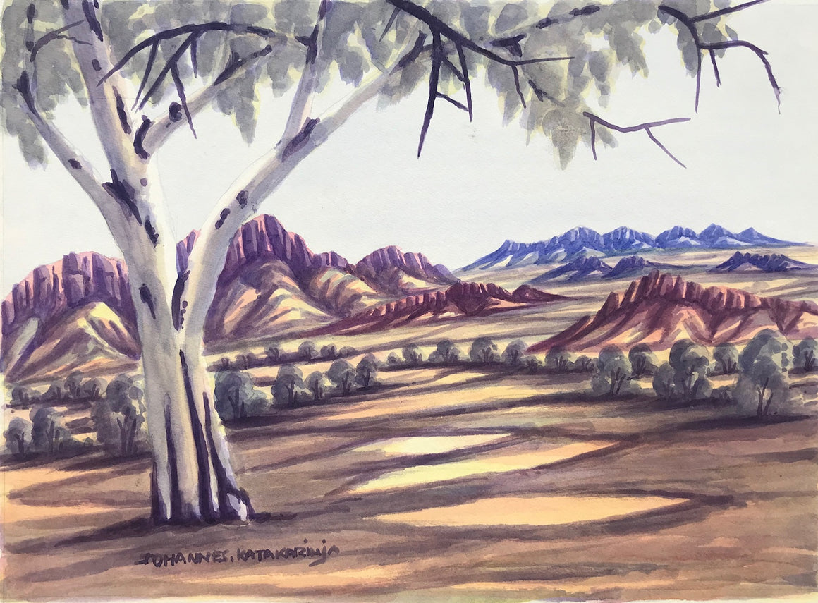 West ManDonnell Ranges, NT - Framed size 53cm x 43cm