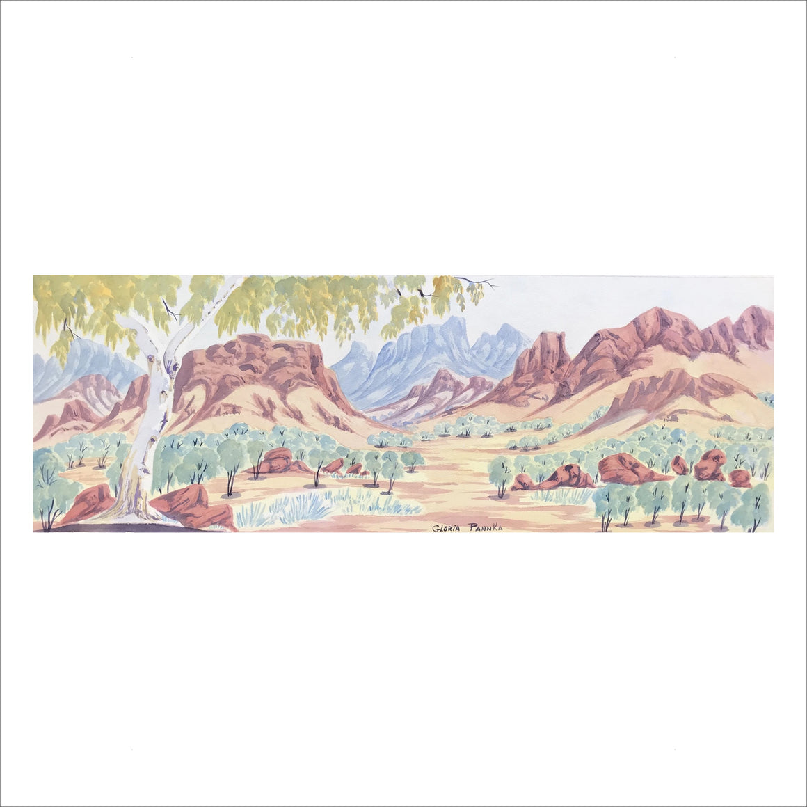 North MacDonnell Ranges,NT - Framed size 89.5cm x 40.5cm