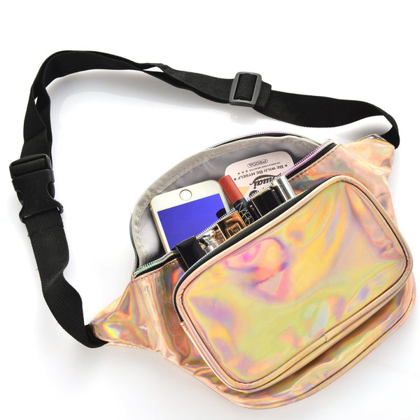 Waist Pack Shinny Fashion Casual Bum Purse Bag Multi-4-Color