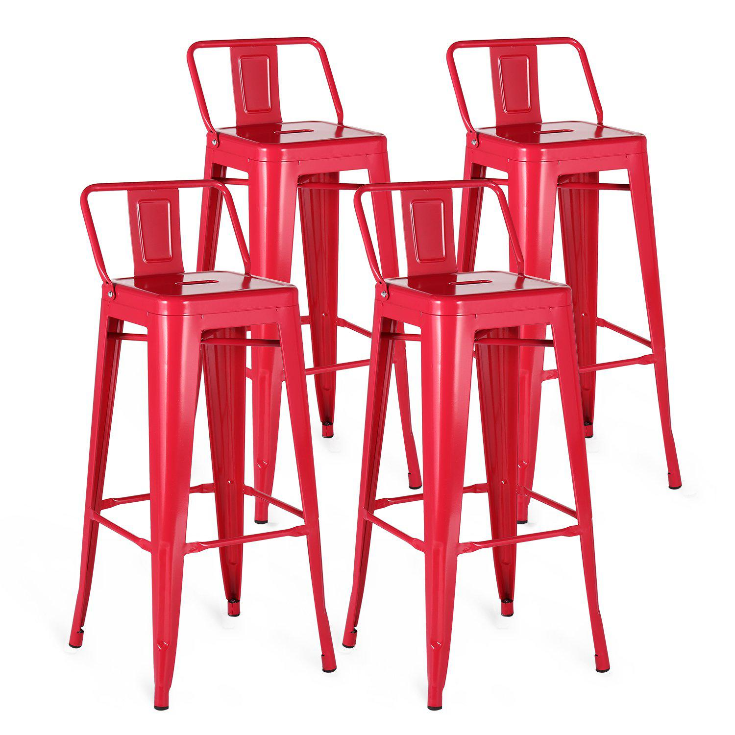 Groovy Metal Bar Stools Set Of 4 Mc02 Cjindustries Chair Design For Home Cjindustriesco