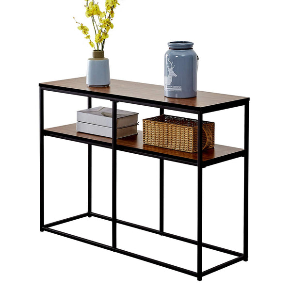 2 Tier Console Table with Storage Shelf