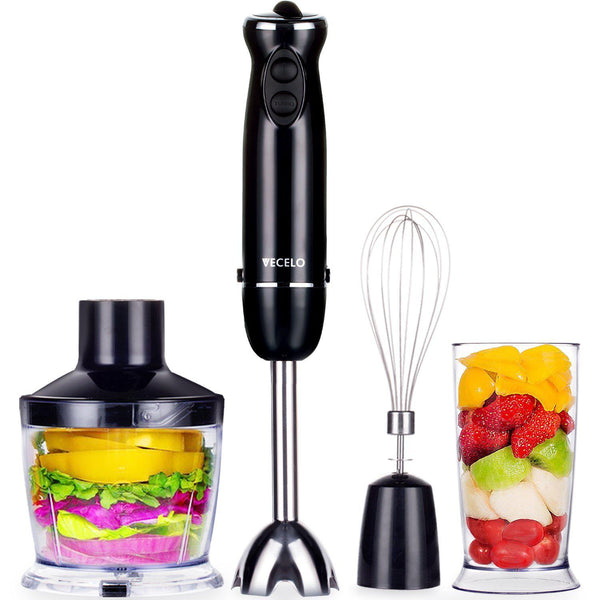 4-in-1 Immersion Hand Blender Set with Food Processor VECELO
