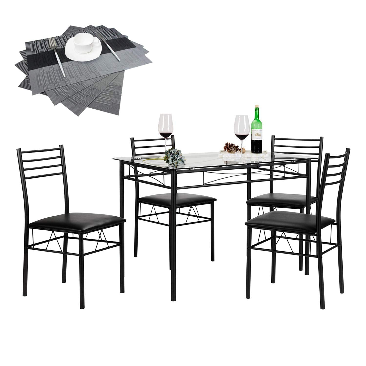 Dining Table Set with 4 Chairs | Vecelo furniture