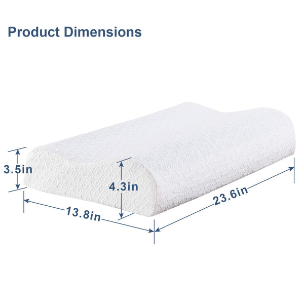 Memory Foam Contour Pillow Cooling Gel - Vecelo furniture