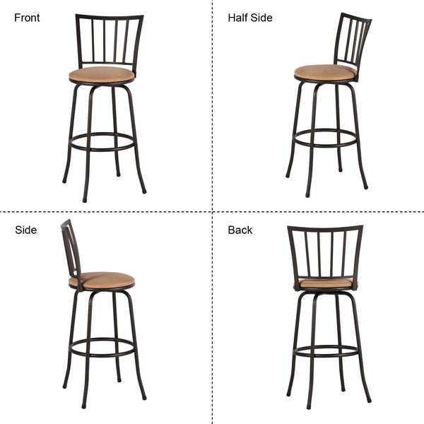 Swivel Modern Barstool Bistro Pub Chair Style A-Set of 2