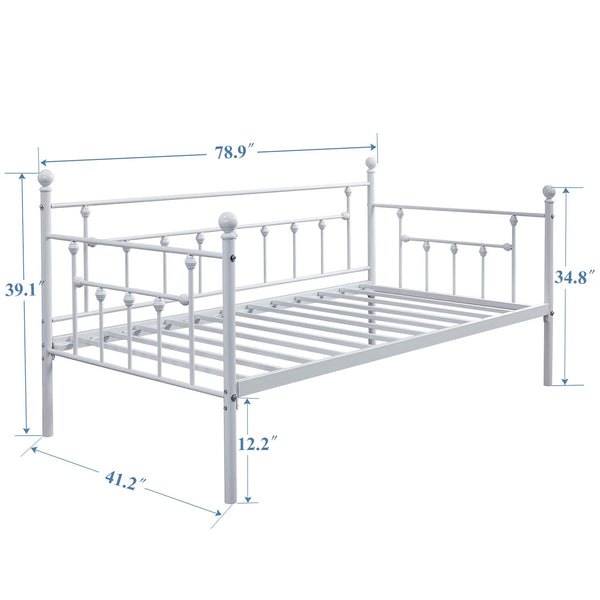 Metal Daybed Twin Size MB-105 Black/White - Vecelo furniture