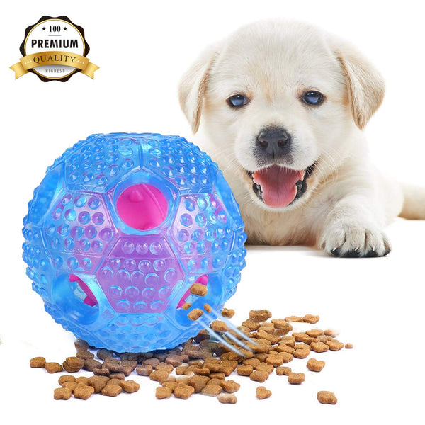 Dog Toy Balls Interactive IQ Training Ball Food Dispensing Chew Ball