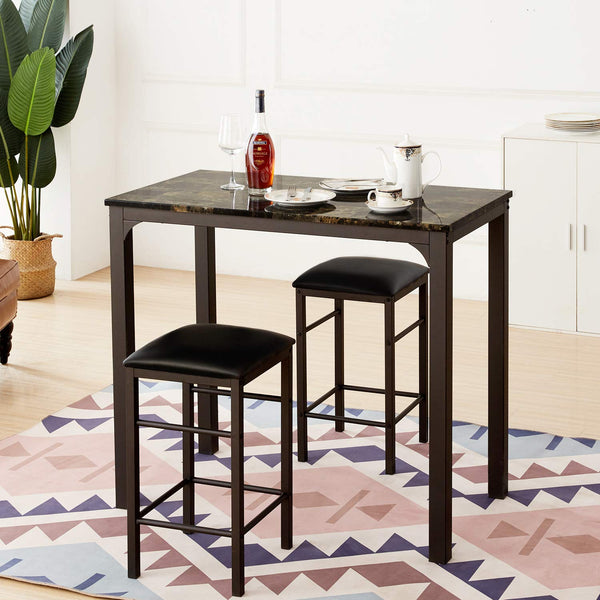 Pub Table 3 Piece Set - Vecelo furniture
