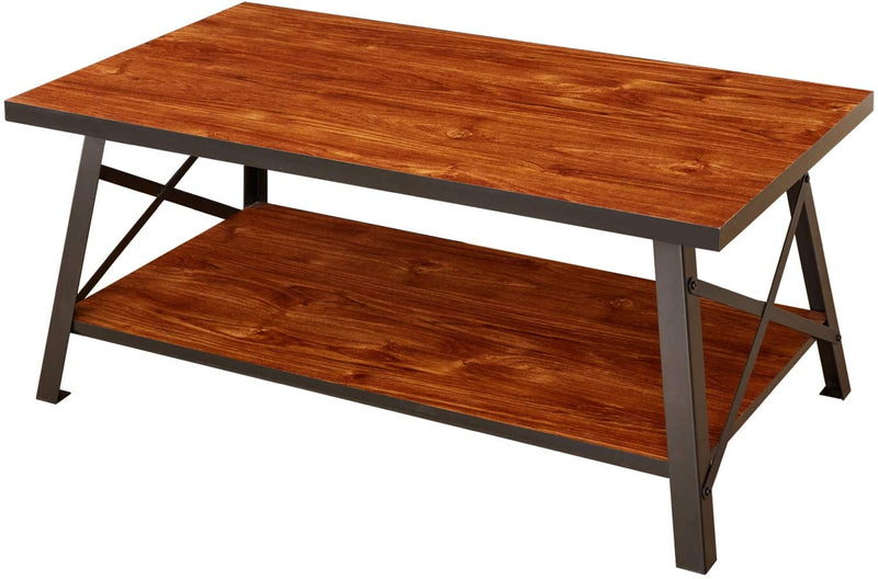 Coffee Table with Storage Open Shelf