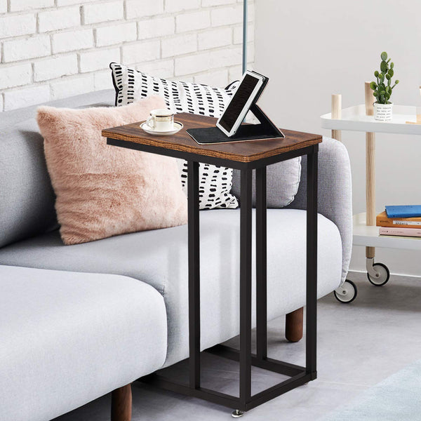 Sofa Snake Side End C-Table Black/Brown - Vecelo furniture