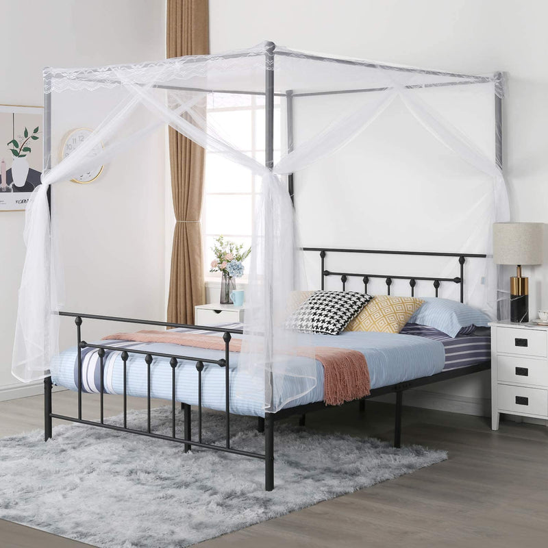 Bed Frame with Mosquito Net Bracket