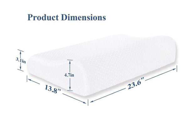 Memory Foam Contour Pillow for Side Sleeper Relieve Neck Pain