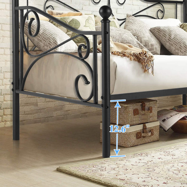 Daybed Metal Bed Frame Twin Size Steel Slat Support