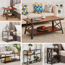 Coffee Table with Storage Open Shelf - Vecelo furniture