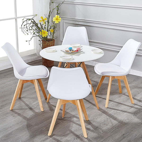 Eames Dining Side Chairs Padded - Vecelo furniture
