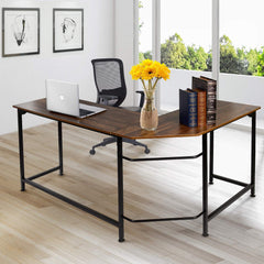 Corner Table L-Shaped Computer Office Writing Desk VECELO