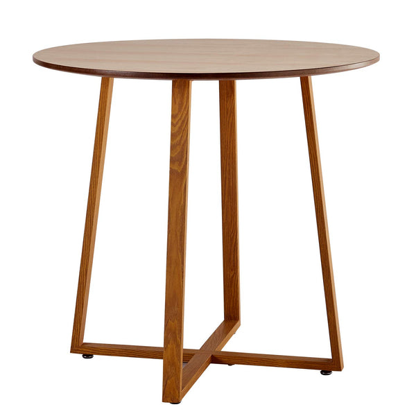 Dining Table Round Solid Wood Coffee Tables - Vecelo furniture