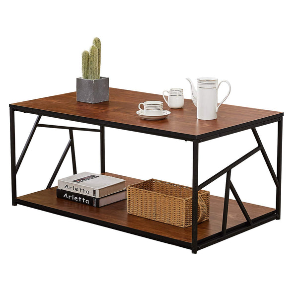 Modern Coffee Tea Table Double Storage