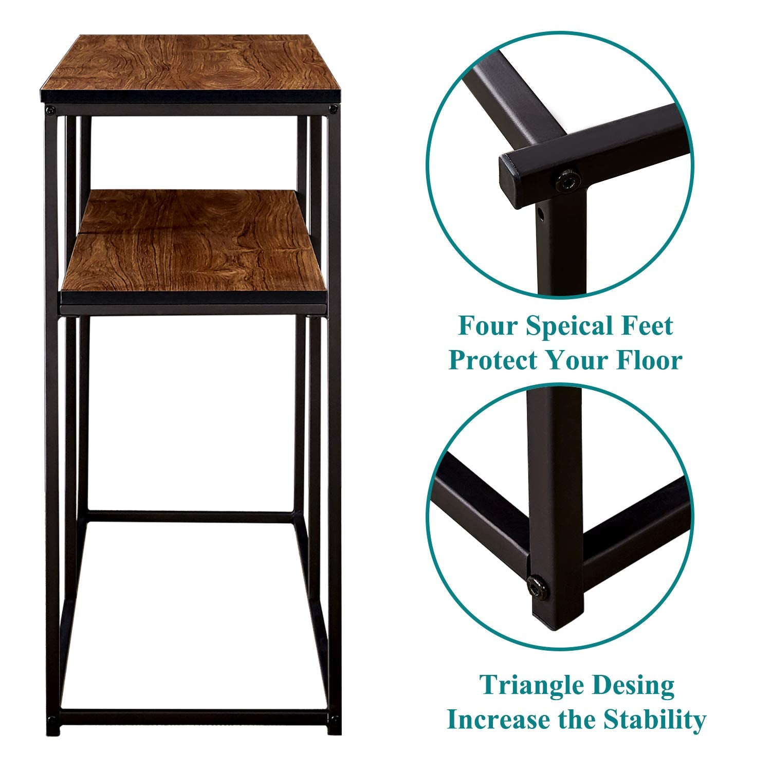 Cool 2 Tier Console Sofa Table Bookshelf Side Entryway Living Download Free Architecture Designs Rallybritishbridgeorg