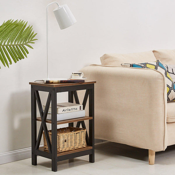 Nightstand/Sofa Side With Open Shelf - Vecelo furniture