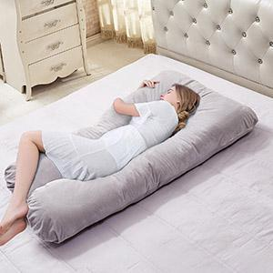 U Shaped Maternity Pillow Full Pregnancy Body Pillow - Vecelo furniture