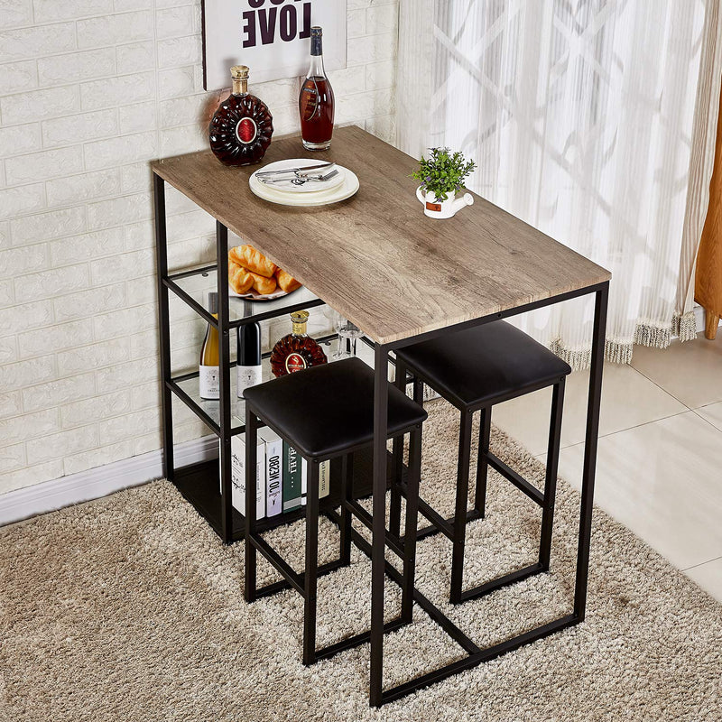 Dining Set 3 Piece - Vecelo furniture