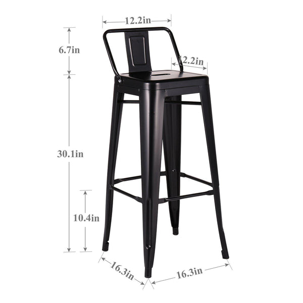 Metal Bar Stools Set of 4-MC02 - Vecelo furniture