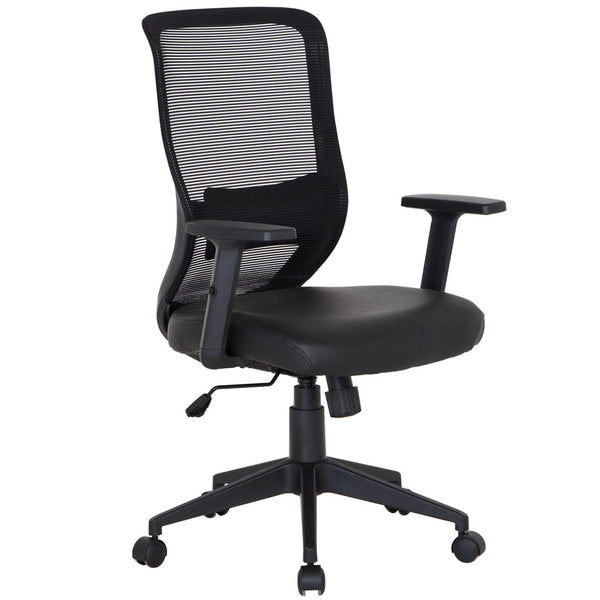 Home Office Chair with Armset Pu Leather