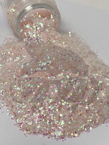 Beach Foam - Chunky Rainbow Glitter