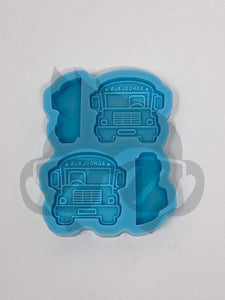 Magic School Bus Silicone Mold - Straw Topper