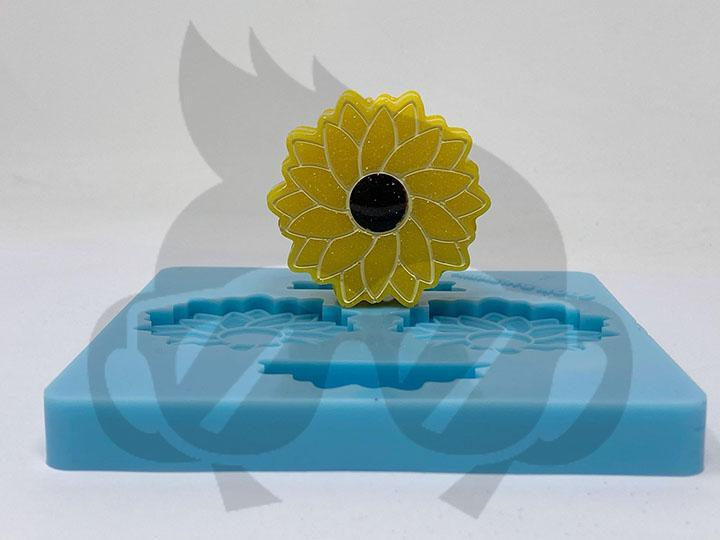 Sunflower Silicone Mold - Straw Topper
