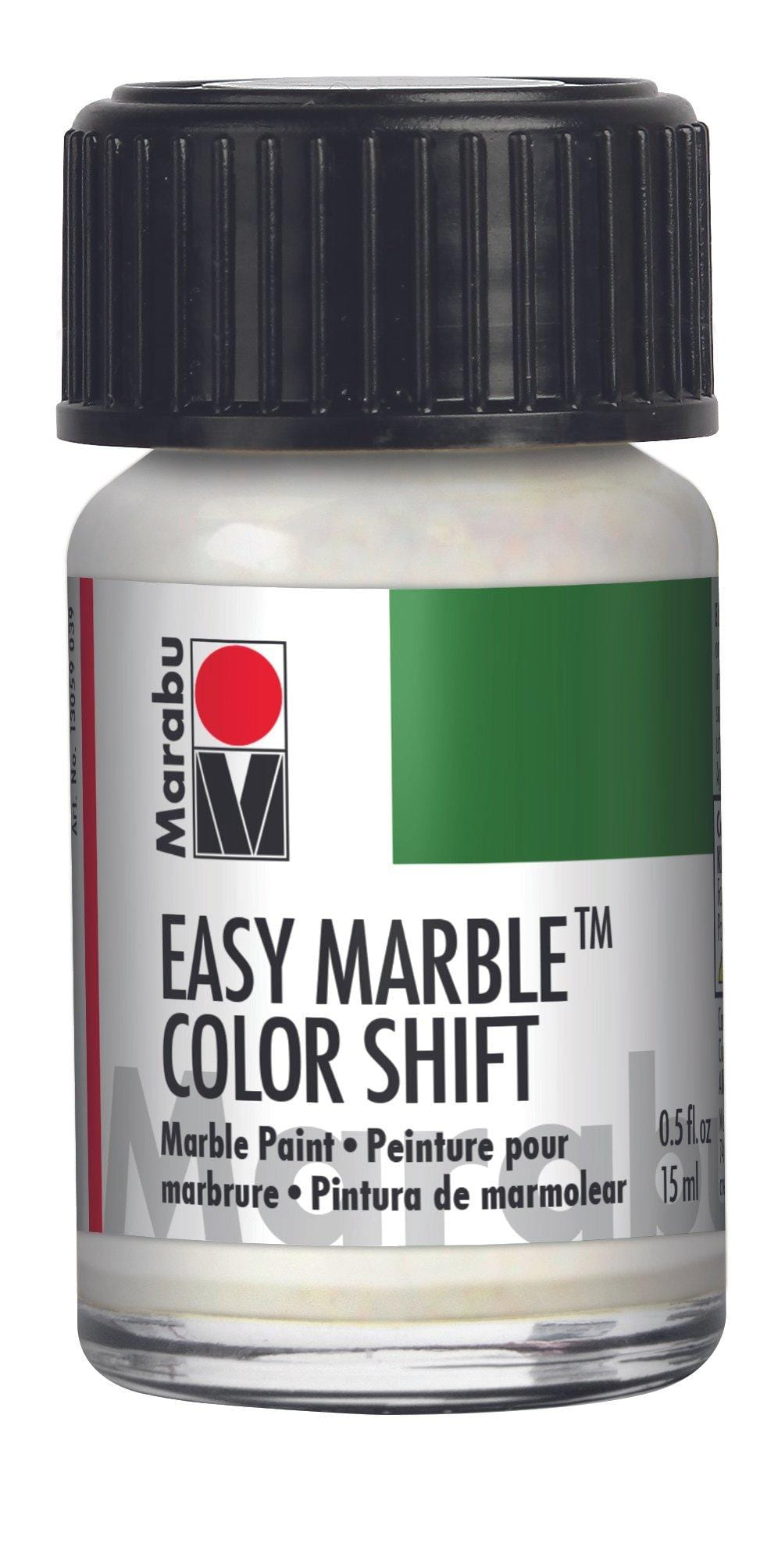 Metallic Green-Violet-Silver 727 - Marabu Easy Marble Paint