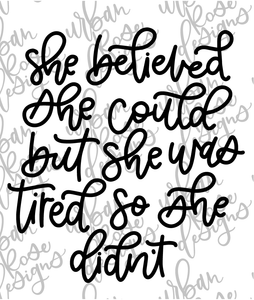 She Believed - Digital File