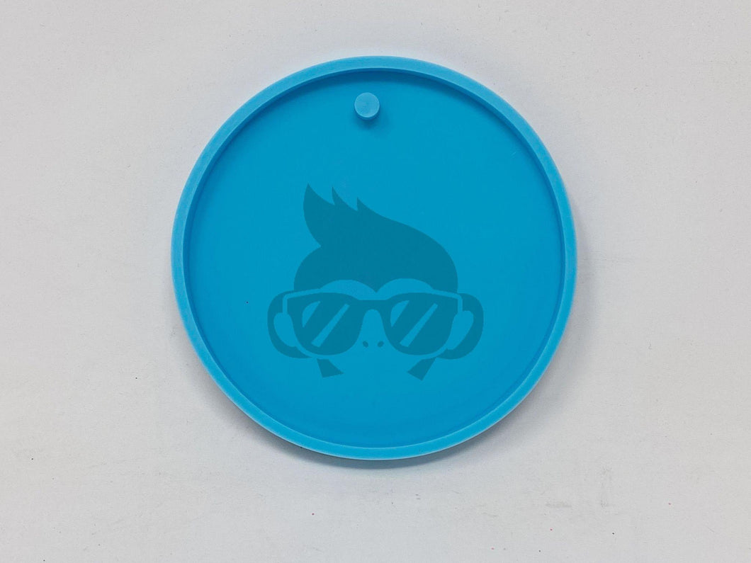 "Large 3"" Circle silicone mold - Key Chain"