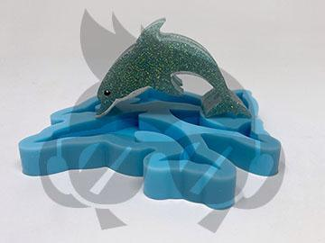 Dolphin Silicone Mold - Straw Topper