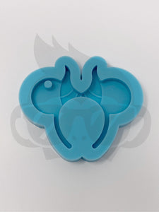 Wicked Fairy - Mouse Headband Silicone Mold - Keychain