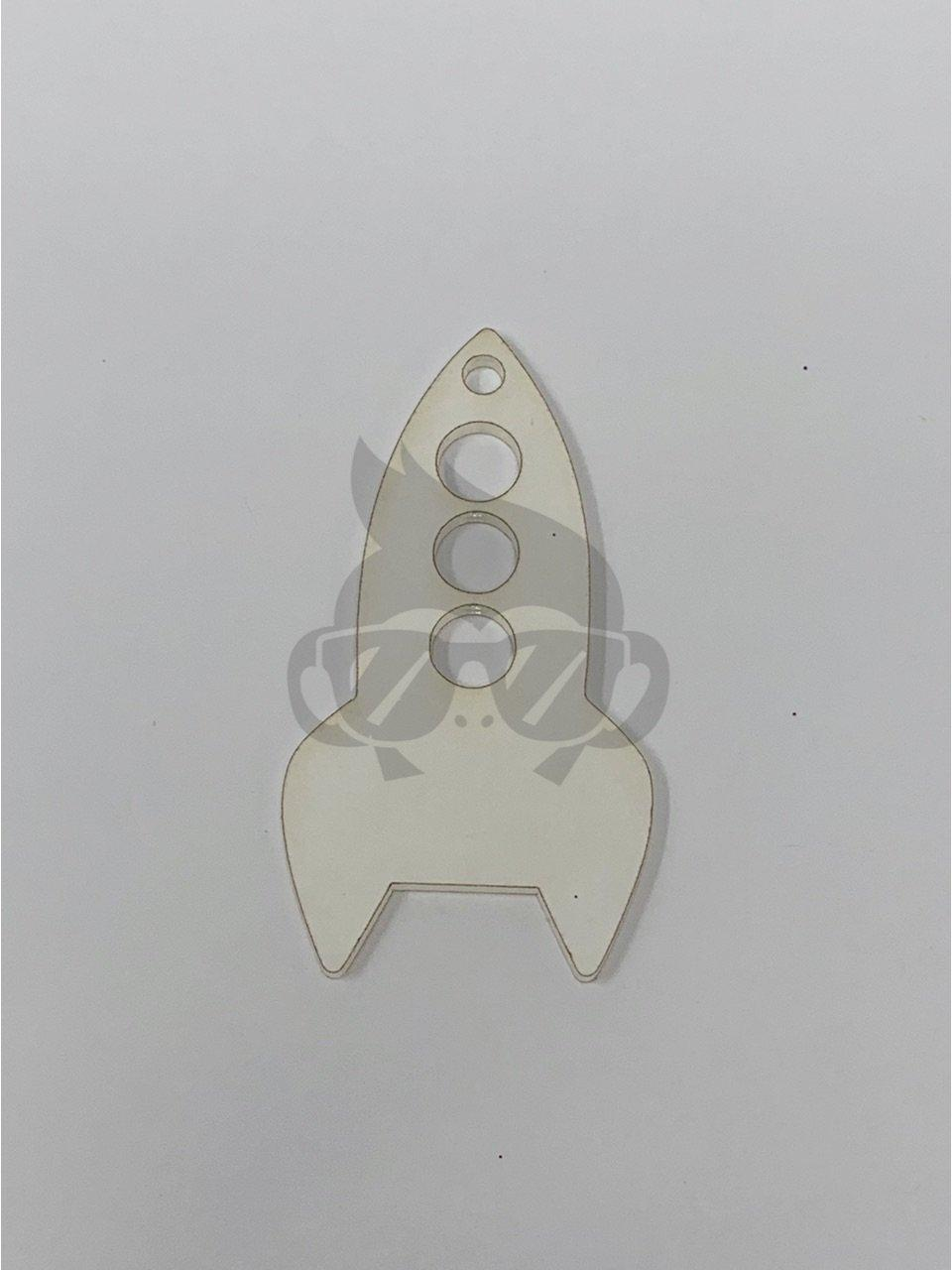 Acrylic Rocket Shaped Key Chain