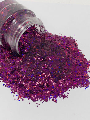 Plum Crazy - Chunky Holographic Glitter