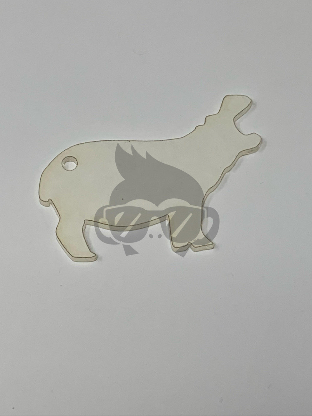 Acrylic Hippo Shaped Key Chain