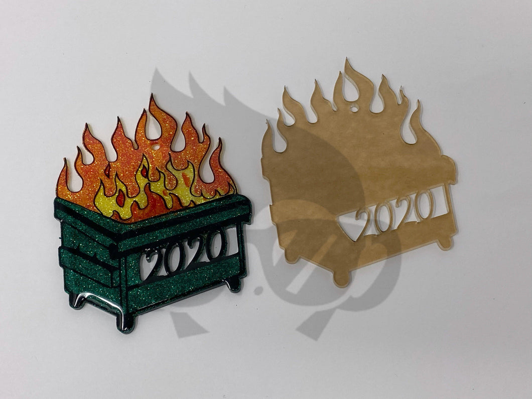 Dumpster Fire 2020 - Acrylic Christmas Tree Ornament